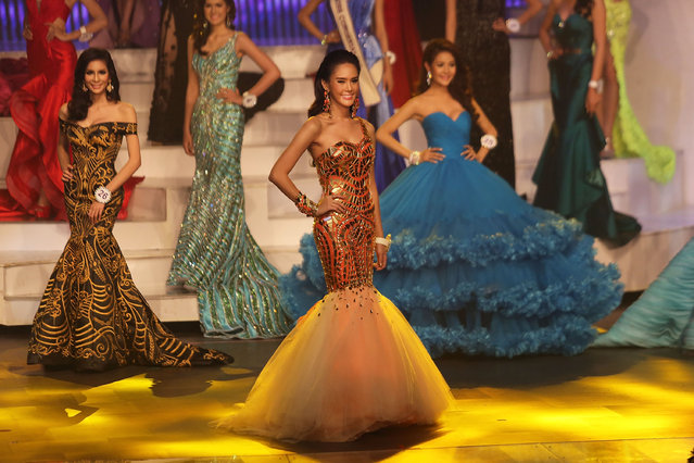 Transgender contestants compete during the Miss Tiffany's Universe transgender beauty contest on May 2, 2014 in Pattaya, Thailand. (Photo by Taylor Weidman/Getty Images)