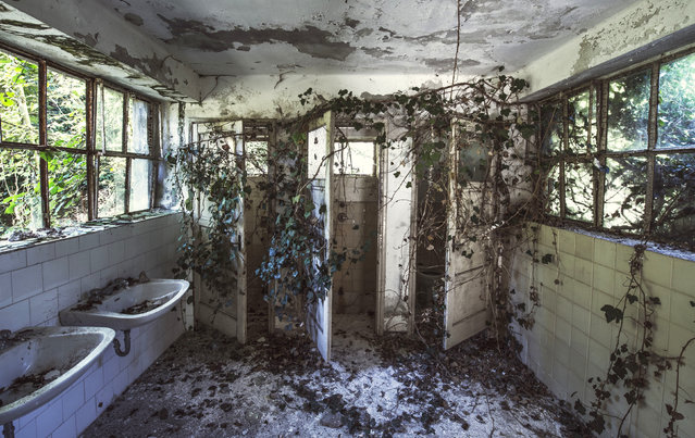 Abandoned Red Cross Hospital. (Photo by Gaz Mather/Cater News)