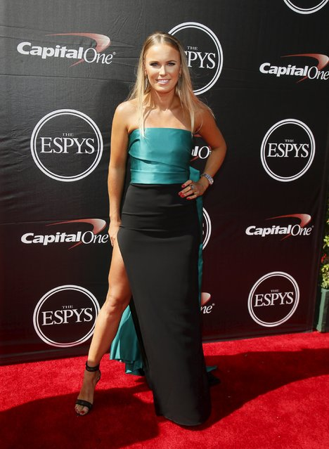 WTA tennis player Caroline Wozniacki arrives for the 2015 ESPY Awards in Los Angeles, California July 15, 2015. (Photo by Danny Moloshok/Reuters)