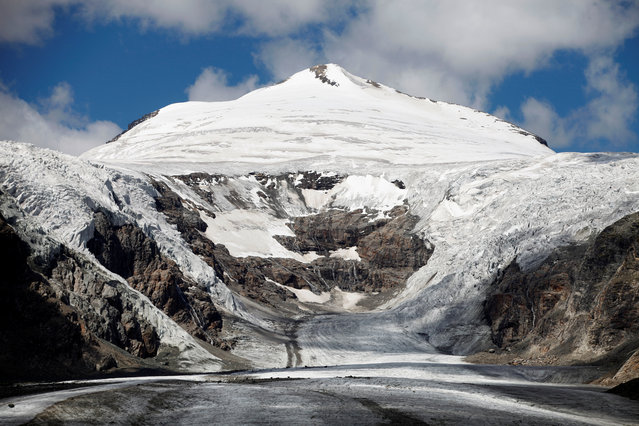 The Pasterze Glacier, Austria's largest glacier, is seen below Johannisberg summit located in the Hohe Tauern mountain range, in the Austrian province of Carinthia, August 14, 2011. (Photo by Lisi Niesner/Reuters)