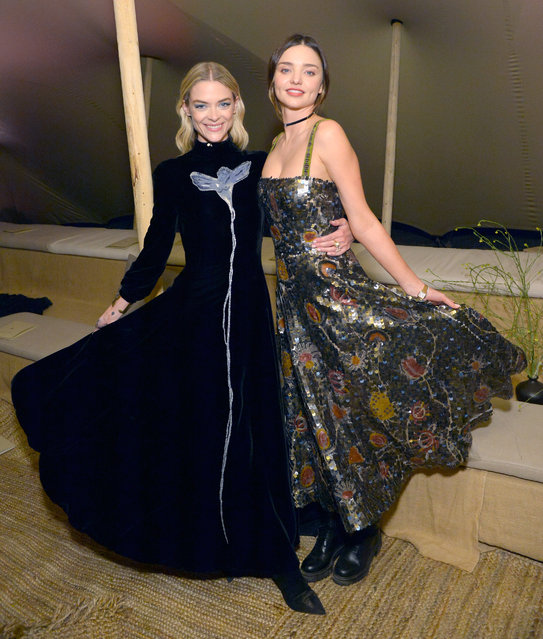 Jaime King and Miranda Kerr at Christian Dior Cruise 2018 Show and After Party at Gladstone's Malibu on May 11, 2017 in Malibu, California. (Photo by Stefanie Keenan/Getty Images for Christian Dior)