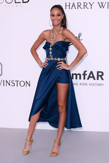 Victoria's Secret model Joan Smalls arrives at the amfAR Gala Cannes 2017 at Hotel du Cap-Eden-Roc on May 25, 2017 in Cap d'Antibes, France. (Photo by David Fisher/Rex Features/Shutterstock)