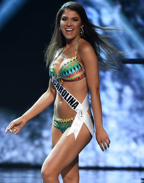 Miss South Carolina USA Leah Lawson competes in the swimsuit competition during the 2016 Miss USA pageant preliminary competition at T-Mobile Arena on June 1, 2016 in Las Vegas, Nevada. (Photo by Ethan Miller/Getty Images)