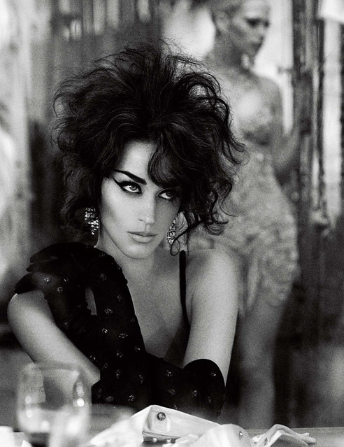 Katy Perry as icon of Hollywood glamour Elizabeth Taylor by Mikael Jansson