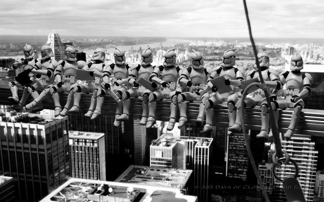 Troopers atop a Skyscraper