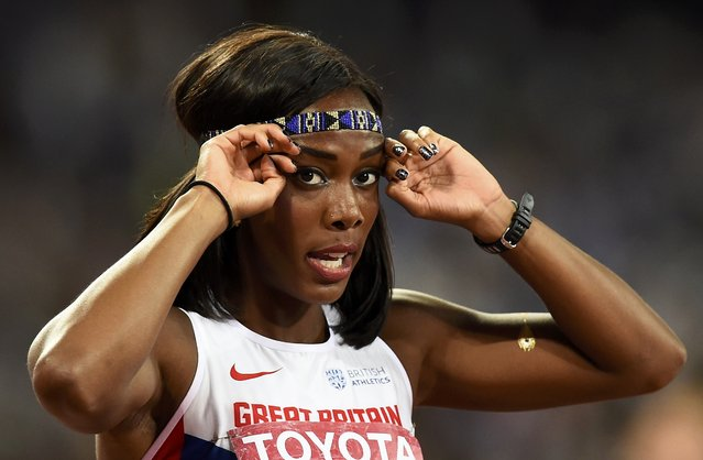 Tiffany Porter of Britain after competing in the women's 100 metres hurdles final during the 15th IAAF World Championships at the National Stadium in Beijing, China August 28, 2015. (Photo by Dylan Martinez/Reuters)