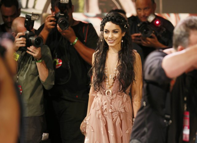 Actress Vanessa Hudgens arrives at the 2015 MTV Video Music Awards in Los Angeles, California, August 30, 2015. (Photo by Danny Moloshok/Reuters)