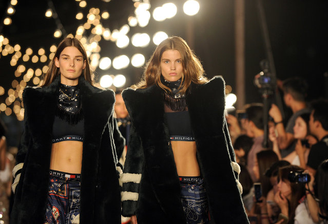Fashion from the Tommy Hilfiger Fall 2016 collection and the TommyXGigi capsule are modeled during Fashion Week in New York, Friday, September 9, 2016. (Photo by Diane Bondareff/AP Photo)
