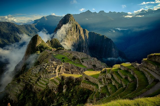The ancient ruins in Machu Picchu, an Incan citadel in Peru, are illuminated by the morning sun. (Photo by Bérenger Zyla/500px)