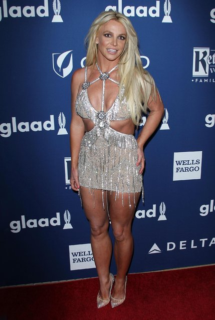 Britney Spears attends the 29th Annual GLAAD Media Awards – Arrivals at The Beverly Hilton Hotel on April 12, 2018 in Beverly Hills, California. (Photo by The Mega Agency)