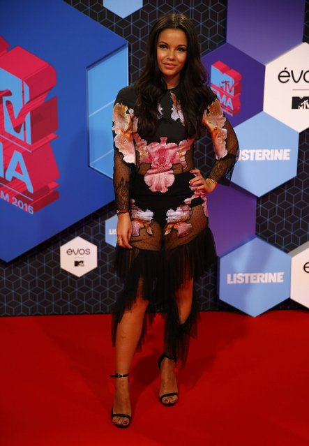 Dutch DJ Monica Geuze arrives for the 2016 MTV Europe Music Awards at the Ahoy Arena in Rotterdam, Netherlands, November 6, 2016. (Photo by Michael Kooren/Reuters)