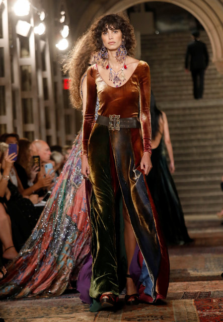 A model presents a collection at Ralph Lauren's 50th anniversary fashion event during New York Fashion Week in New York, U.S., September 7, 2018. (Photo by Shannon Stapleton/Reuters)