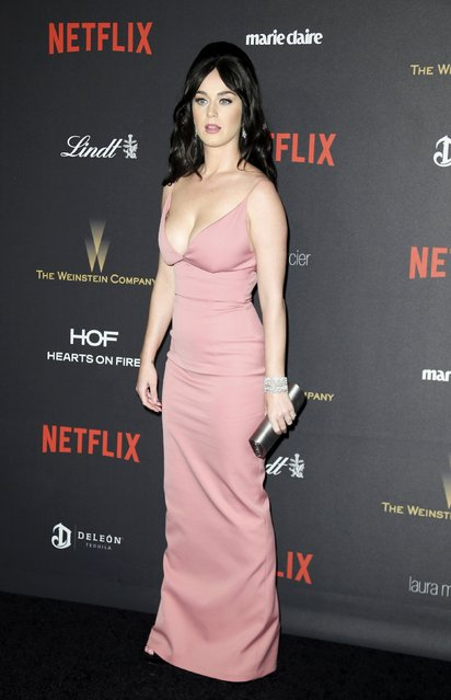 Singer Katy Perry arrives at The Weinstein Company & Netflix Golden Globe After Party in Beverly Hills, California January 10, 2016. (Photo by Danny Moloshok/Reuters)