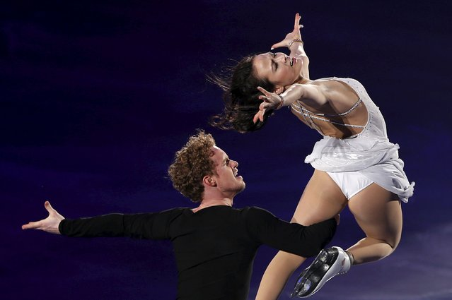Madison Chock and Evan Bates of the U.S. perform during the exhibition program at the ISU World Team Trophy in Figure Skating in Tokyo April 19, 2015. (Photo by Yuya Shino/Reuters)