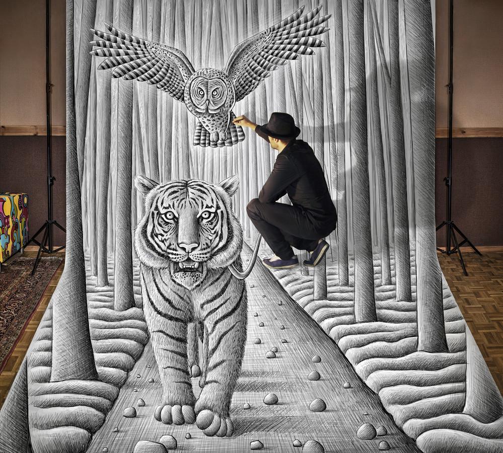 """Anamorphic Illusions"" by Ben Heine"