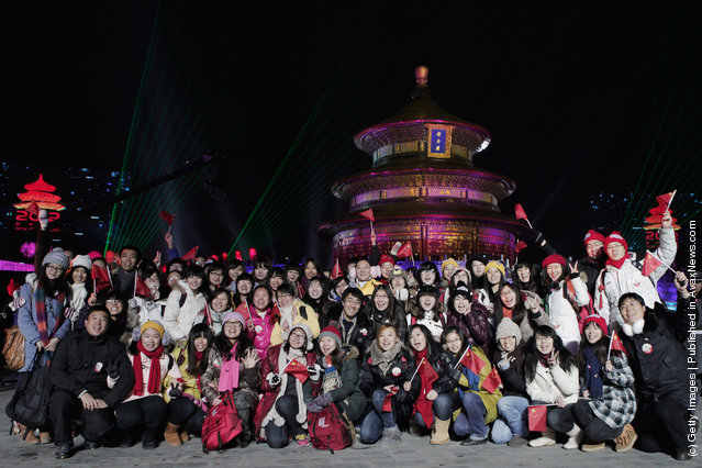 Chinese people celebrate the New Year at the Temple of Heaven Park