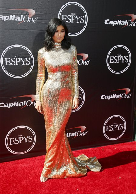 Kylie Jenner arrives for the 2015 ESPY Awards in Los Angeles, California July 15, 2015. (Photo by Danny Moloshok/Reuters)