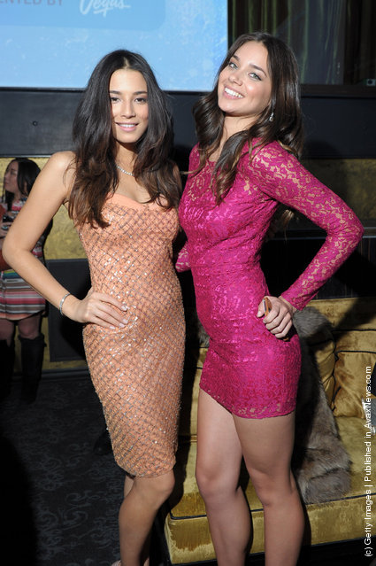 SI swimsuit models Jessica Gomes and Michelle Vawer attend SI Swimsuit On Location hosted by Haze Nightclub at the Aria Resort & Casino at CityCenter