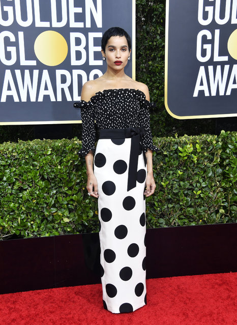 Zoë Kravitz attends the 77th Annual Golden Globe Awards at The Beverly Hilton Hotel on January 05, 2020 in Beverly Hills, California. (Photo by Frazer Harrison/Getty Images)