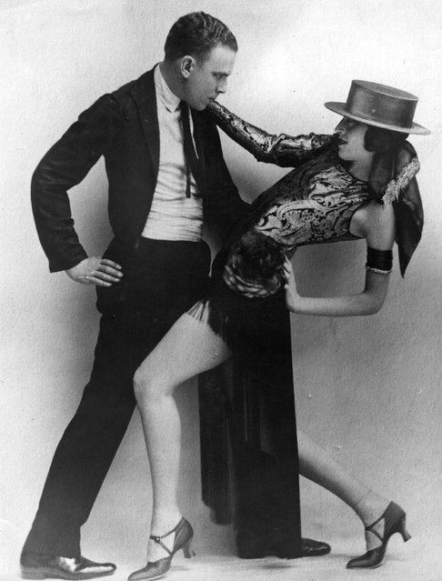 Cabaret dancers, Josephine Head and Albert Zapp perform the Tango at the Piccadilly Hotel