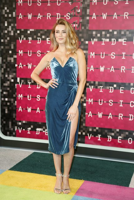 Actress Arielle Vandenberg arrives at the 2015 MTV Video Music Awards in Los Angeles, California, August 30, 2015. (Photo by Danny Moloshok/Reuters)
