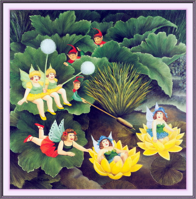 Fairies and Pixies. Artwork by Beryl Cook