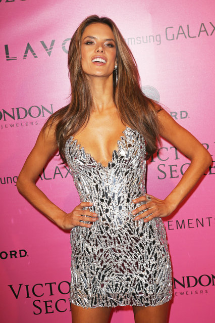 Model Alessandra Ambrosio attends the after party for the 2012 Victoria's Secret Fashion Show at Lavo NYC on November 7, 2012 in New York City. (Photo by Jim Spellman/WireImage)