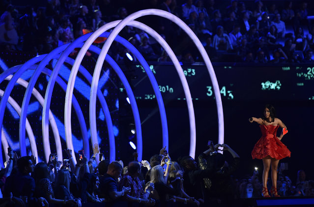 Host of the show Nicki Minaj performs during the 2014 MTV Europe Music Awards at the SSE Hydro Arena in Glasgow. (Photo by Toby Melville/Reuters)
