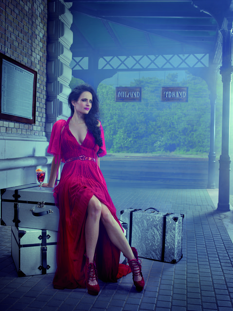 Eva Green poses for the month of March. (Photo by Julia Fullerton-Batten/Campari Calendar 2015)