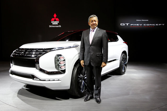 Kozo Shiraji, Executive Vice President Overseas Operations of Mitsubishi Motors, poses after a news conference on media day at the Paris auto show, in Paris, France, September 29, 2016. (Photo by Benoit Tessier/Reuters)