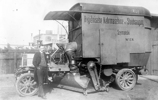 New street cleaner. Vienna, circa 1896. (Photo by George Grantham Bain Collection/Library of Congress)