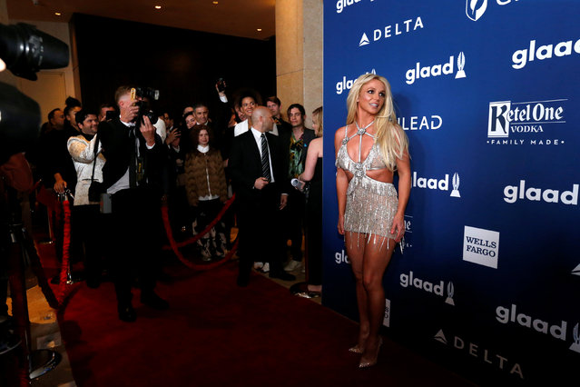 Singer Britney Spears poses at the 29th Annual GLAAD Media Awards in Beverly Hills, California, U.S., April 12, 2018. (Photo by Mario Anzuoni/Reuters)