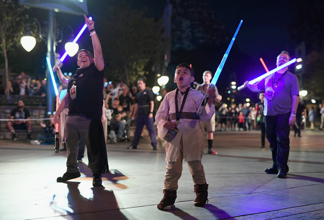 On May 3, fans #RoarForChange and ring in Star Wars fan holiday, May the 4th, at Disneyland After Dark: Star Wars Nite in Anaheim CA. (Photo by Emma McIntyre/Getty Images for The Walt Disney Company)