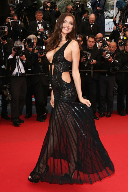 "Irina Shayk attends the Premiere of ""All Is Lost"" during The 66th Annual Cannes Film Festival at the Palais des Festivals on May 22, 2013 in Cannes, France. (Photo by Venturelli/WireImage)"