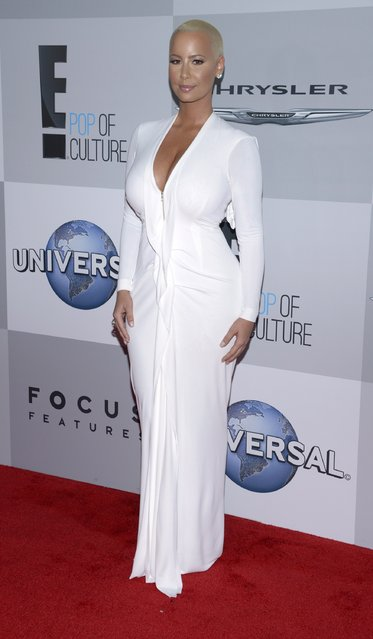 Model Amber Rose attends NBC Universal's after party at the 72nd annual Golden Globe Awards in Beverly Hills, California January 11, 2015. (Photo by Phil McCarten/Reuters)