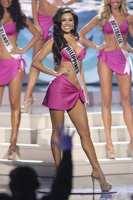 Miss Philippines Mary Jean Lastimosa onstage during The 63rd Annual Miss Universe Pageant at Florida International University on January 25, 2015 in Miami, Florida. (Photo by Alexander Tamargo/Getty Images)