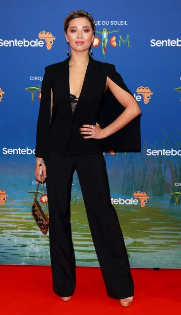 """Katya Jones attends the Cirque du Soleil Premiere Of """"TOTEM"""" at Royal Albert Hall on January 16, 2019 in London, England. (Photo by Tim P. Whitby/Tim P. Whitby/Getty Images)"""