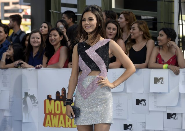Actress Victoria Justice arrives at the 2015 MTV Movie Awards in Los Angeles, California April 12, 2015. (Photo by Phil McCarten/Reuters)