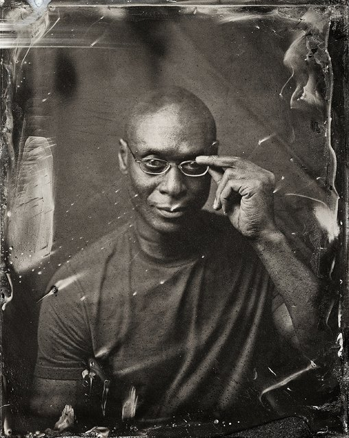 Lance Reddick poses for a tintype (wet collodion) portrait at The Collective and Gibson Lounge Powered by CEG, during the 2014 Sundance Film Festival in Park City, Utah. (Photo by Victoria Will/AP Photo/Invision)