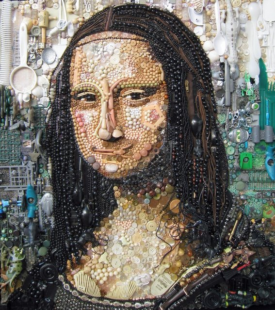 One artist doesnt mind if people class her work as rubbish. Thats because all of her pieces are made out of junk found in charity shops, car boot sales and in and around her home. (Photo by Caters News)