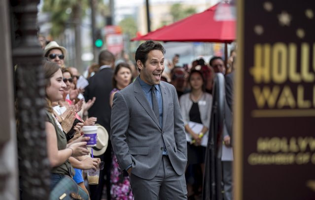 Actor Paul Rudd attends the ceremony for the unveiling of his star on the Walk of Fame in Hollywood, California July 1, 2015. (Photo by Mario Anzuoni/Reuters)