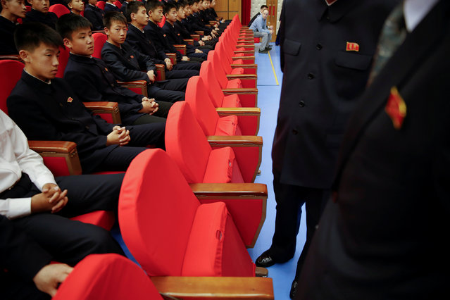 Spectators wait for the beginning of a performance at the Mangyongdae Children's Palace in central Pyongyang, North Korea May 5, 2016. (Photo by Damir Sagolj/Reuters)