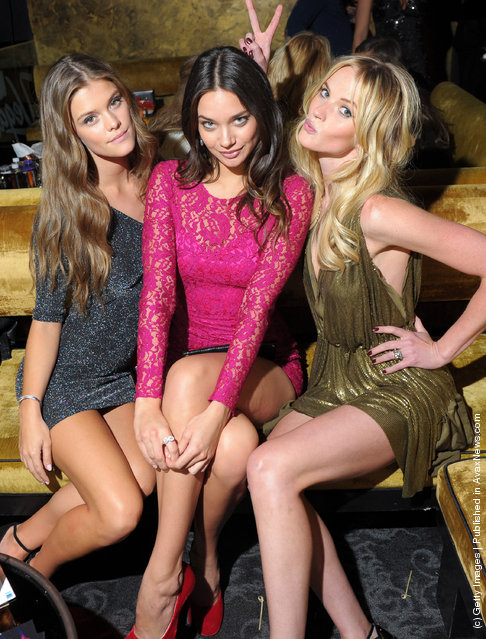 SI swimsuit models Nina Agdal, Michelle Vawer and Anne V attend SI Swimsuit On Location hosted by Haze Nightclub at the Aria Resort & Casino at CityCenter