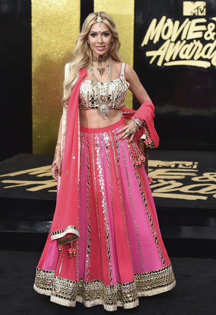 Farrah Abraham arrives at the MTV Movie and TV Awards at the Shrine Auditorium on Sunday, May 7, 2017, in Los Angeles. (Photo by Jordan Strauss/Invision/AP Photo)