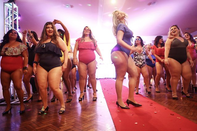 Contestants compete during the Miss Plus Size Carioca beauty pageant on July 8, 2017 in Rio de Janeiro, Brazil. (Photo by Mario Tama/Getty Images)