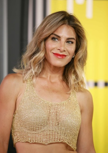 Fitness trainer Jillian Michaels arrives at the 2015 MTV Video Music Awards in Los Angeles, California, August 30, 2015. (Photo by Danny Moloshok/Reuters)