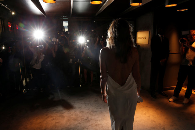 Cindy Crawford arrives to attend a presentation of Tom Ford's Autumn/Winter 2016 collections during New York Fashion Week in the Manhattan borough of New York, U.S., September 7, 2016. (Photo by Lucas Jackson/Reuters)