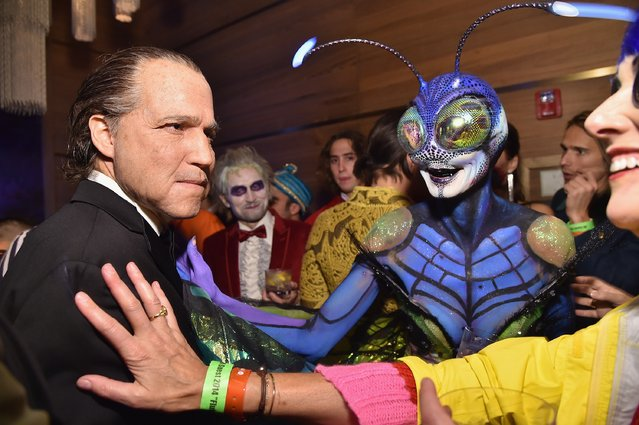 Vito Schnabel and Heidi Klum attend Moto X presents Heidi Klum's 15th Annual Halloween Party sponsored by SVEDKA Vodka at TAO Downtown on October 31, 2014 in New York City. (Photo by Mike Coppola/Getty Images for Heidi Klum)