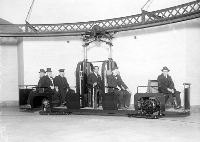 """Monorail Subway, Capitol To Senate. The Car, 1916"". (Photo by Harris & Ewing Collection)"