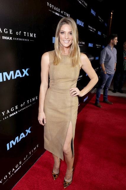 """Ashley Greene seen at Los Angeles Premiere of """"Voyage of Time: The IMAX Experience"""" at California Science Center IMAX Theatre on Wednesday, September 28, 2016, in Los Angeles. (Photo by Eric Charbonneau/Invision for IMAX/AP Images)"""